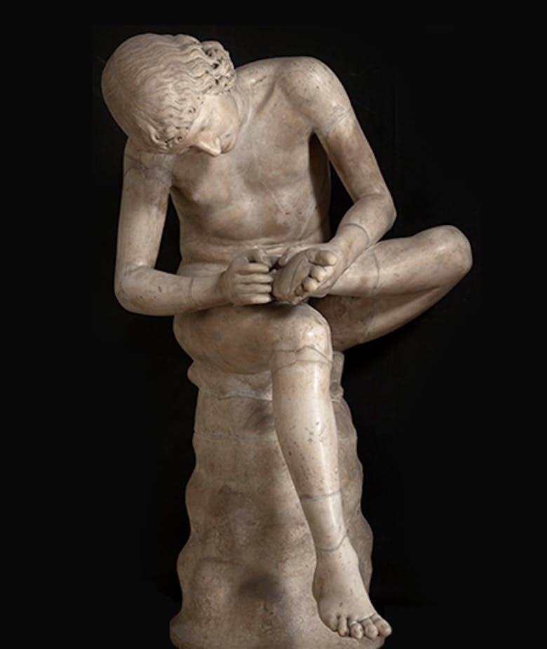 Boy with Thorn (also known as Spinario)