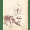 Figura maschile nuda inginocchiata
