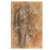 Cloaked Male Figure and Studies of his Left Leg and Right Arm