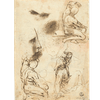 Three Studies and a Sketch of a Male Figure both Nude and Clothed; Profile