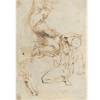 Three Studies of a Male Figure both Nude and Clothed