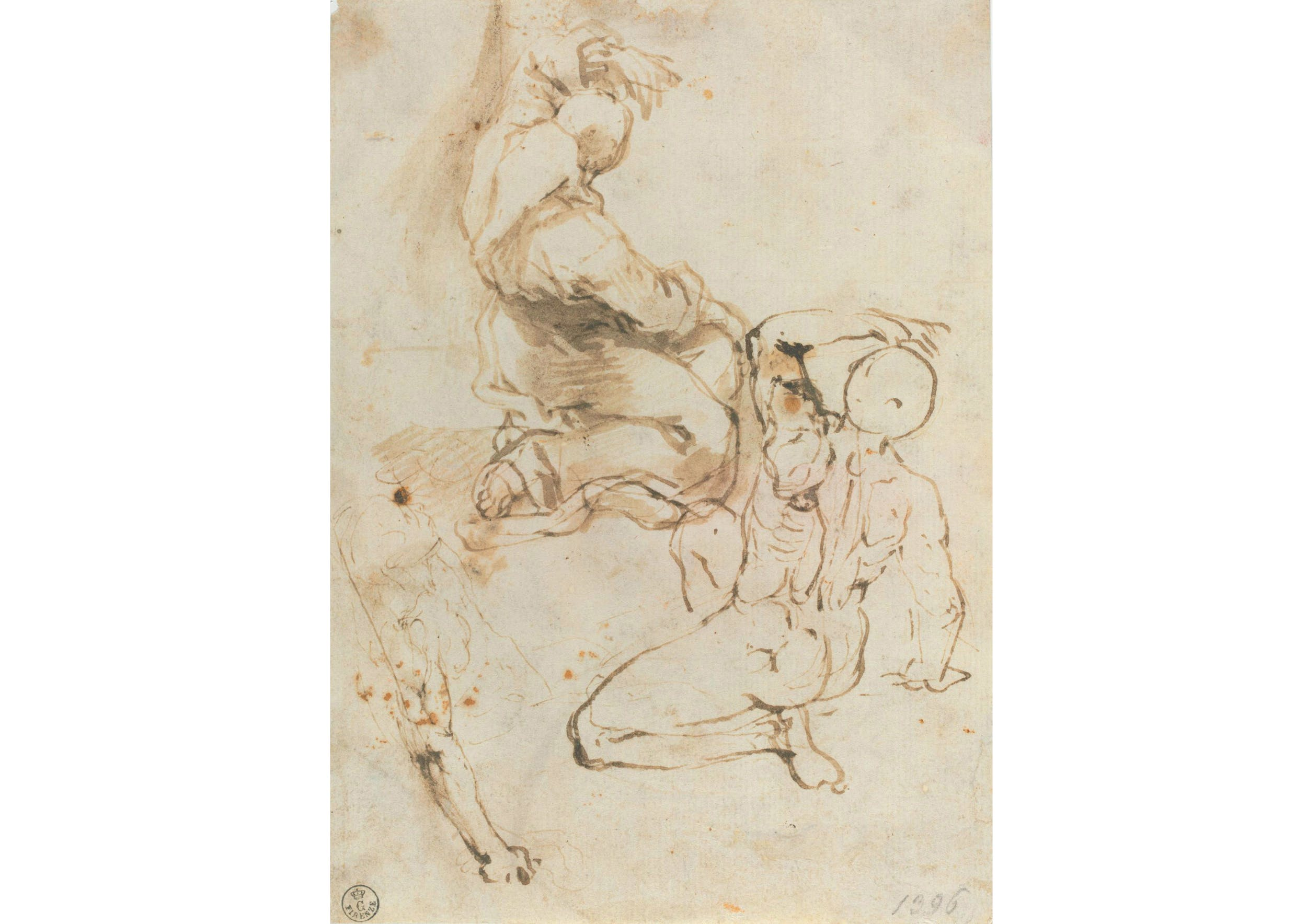 Penna e inchiostro, pennello e inchiostro diluito, carta (214 x 153 mm.) - Inv. 1396 F recto