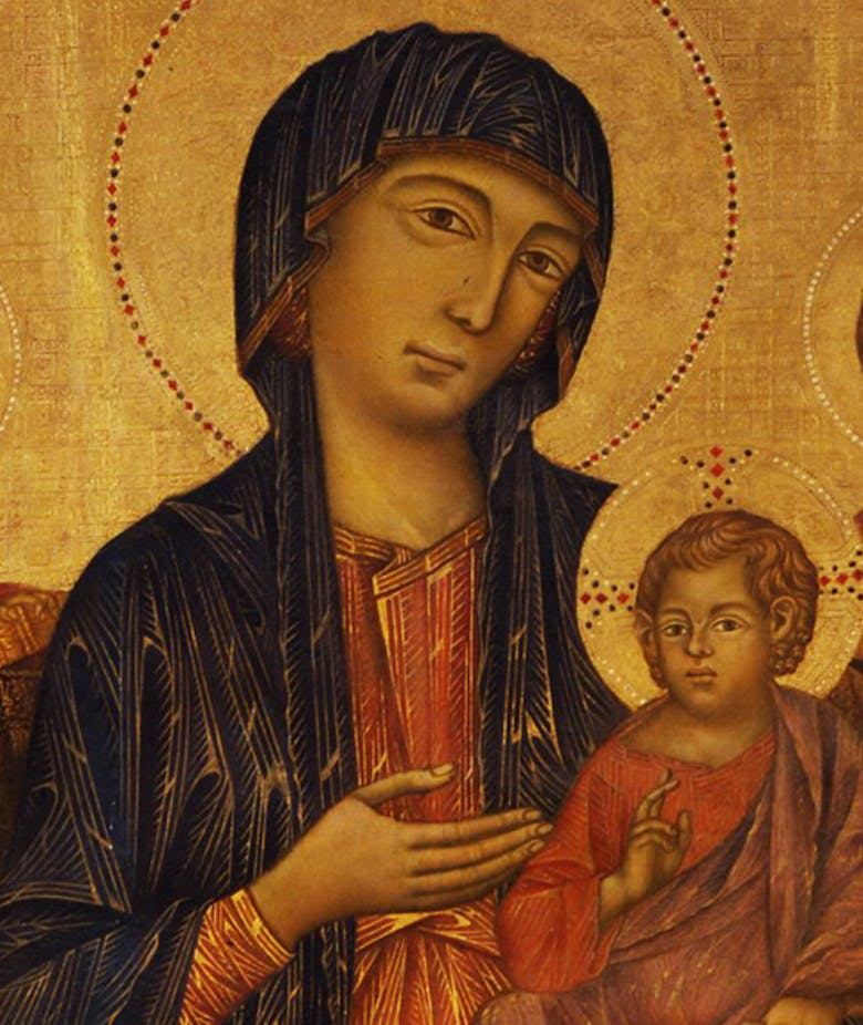 Virgin and Child Enthroned, and Prophets (Santa Trinita Maestà)
