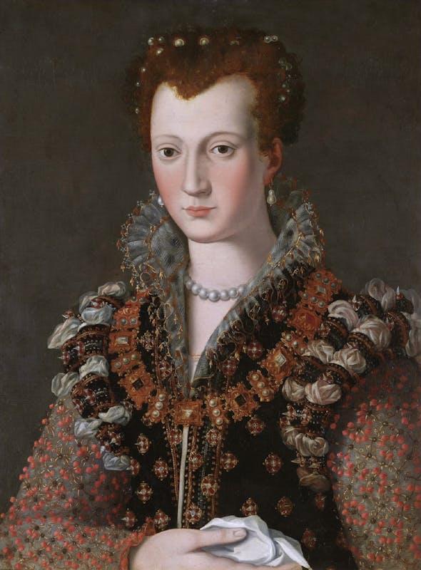 Fig. 3, Alessandro Allori, Ritratto di Camilla Martelli o di Virginia de' Medici, già Londra, Sotheby's