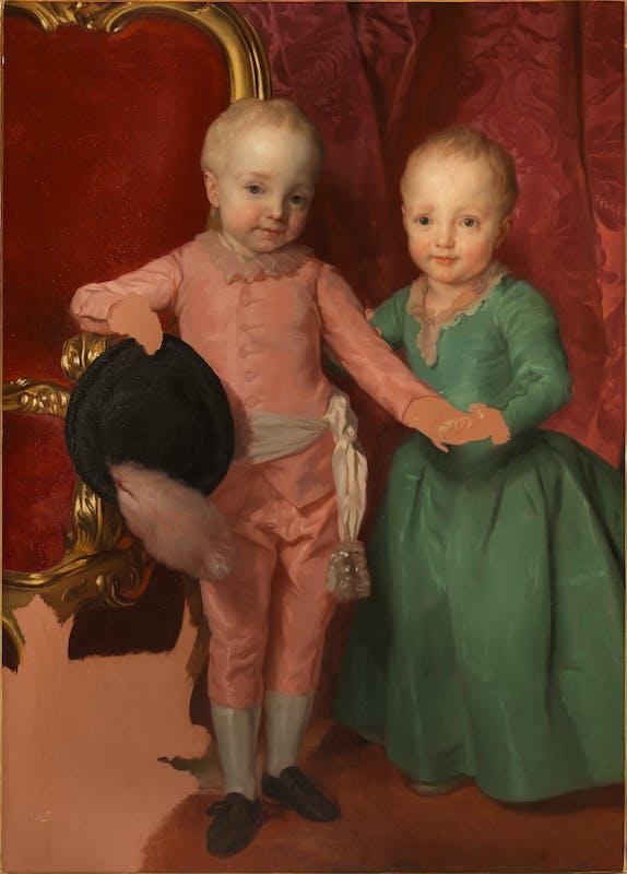 Fig. 1, Doppio ritratto di Ferdinando e Maria anna di Lorena