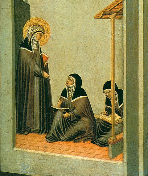 Saint Humility and scenes from her life