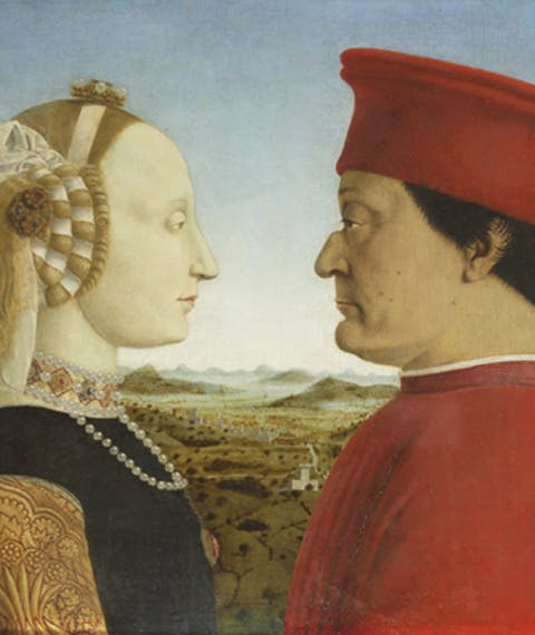 The Duke and Duchess of Urbino Federico da Montefeltro and Battista Sforza