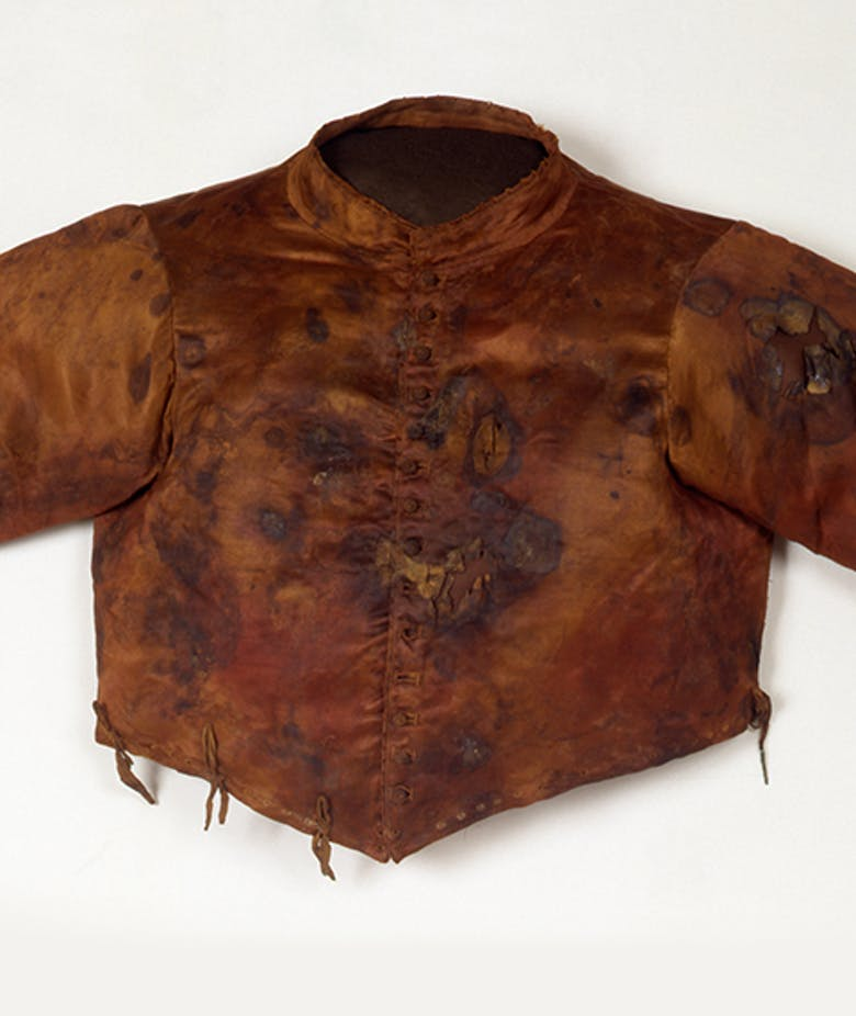 Abiti funebri di Cosimo I de' Medici: Giubbone, calze con brachetta, Cappa Magna dell'Ordine S. Stefano
