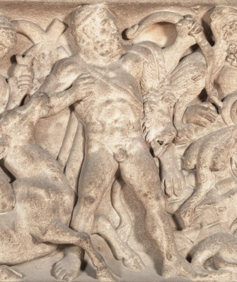 Sarcophagus depicting the labours of Hercules