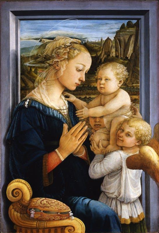 Risultati immagini per filippo lippi madonna col bambino e due angeli