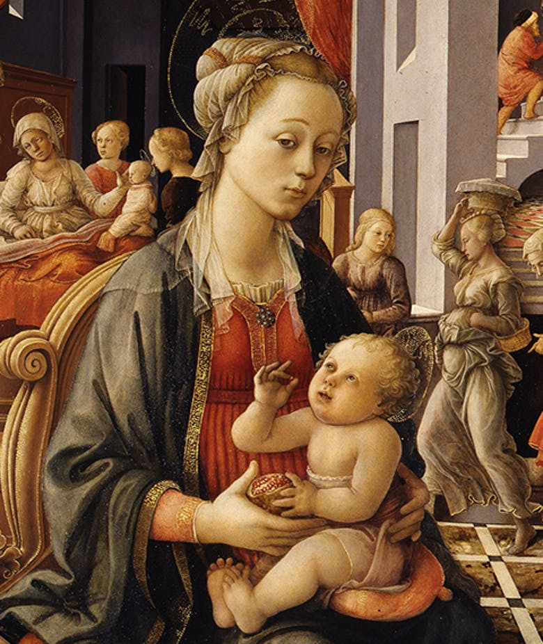 Madonna with the Child and Scenes from the Life of St Anne