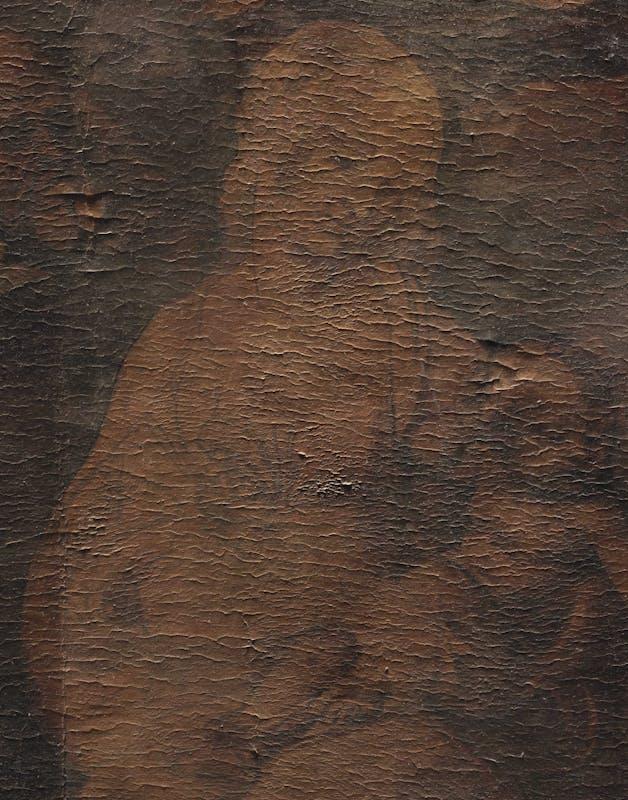 3. Particolare della Madonna, prima del restauro, a luce radente