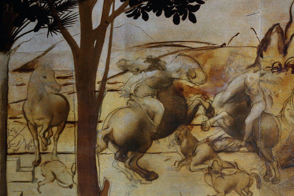 13. Leonardo da Vinci, Adorazione dei Magi, dettaglio dello sfondo