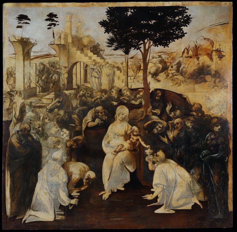 18. Leonardo da Vinci, Adorazione dei Magi, a conclusione del restauro