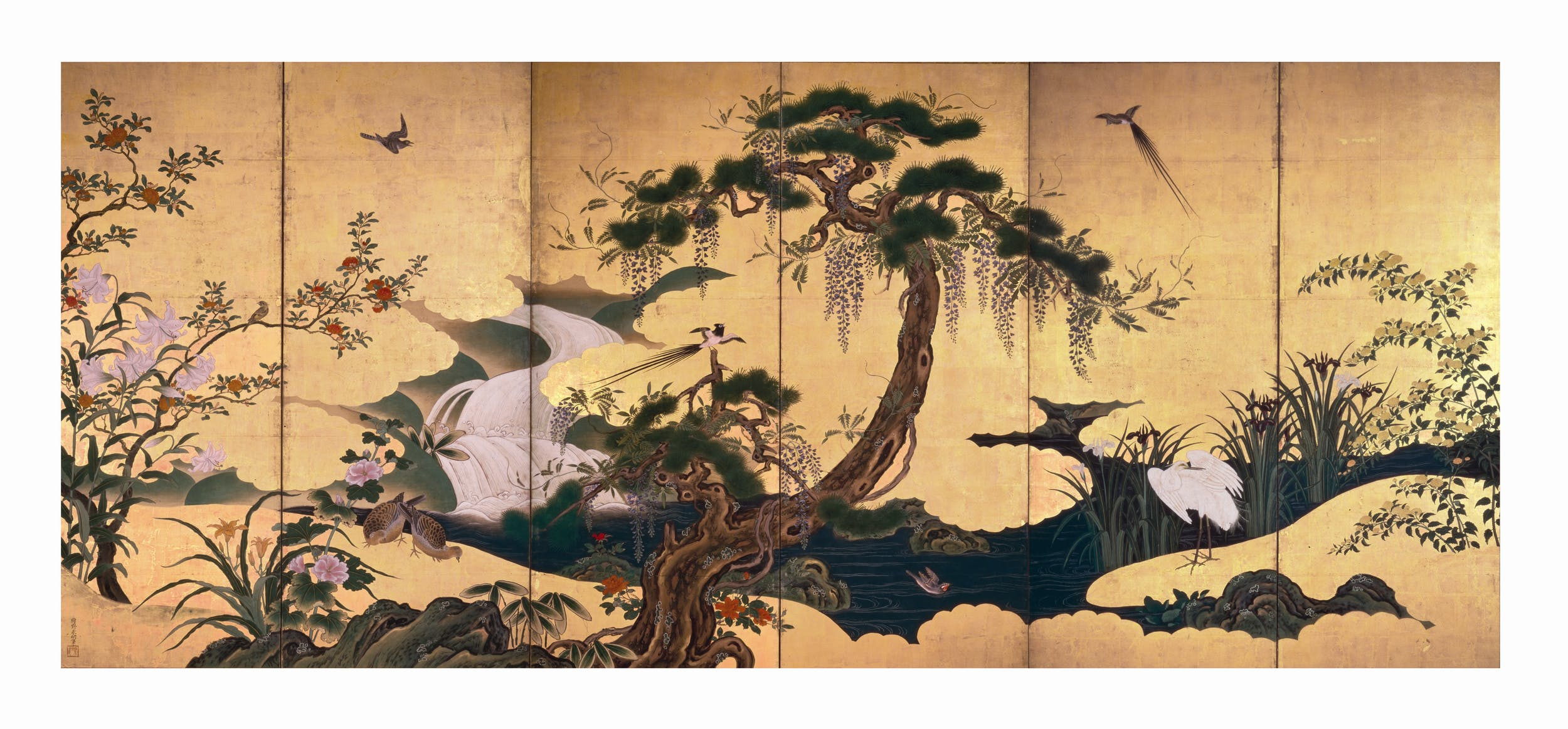 The Japanese Renaissance Nature On Painted Screens From