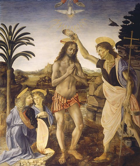 """""""The Baptism of Christ"""" by Verrocchio is temporarily not on display"""
