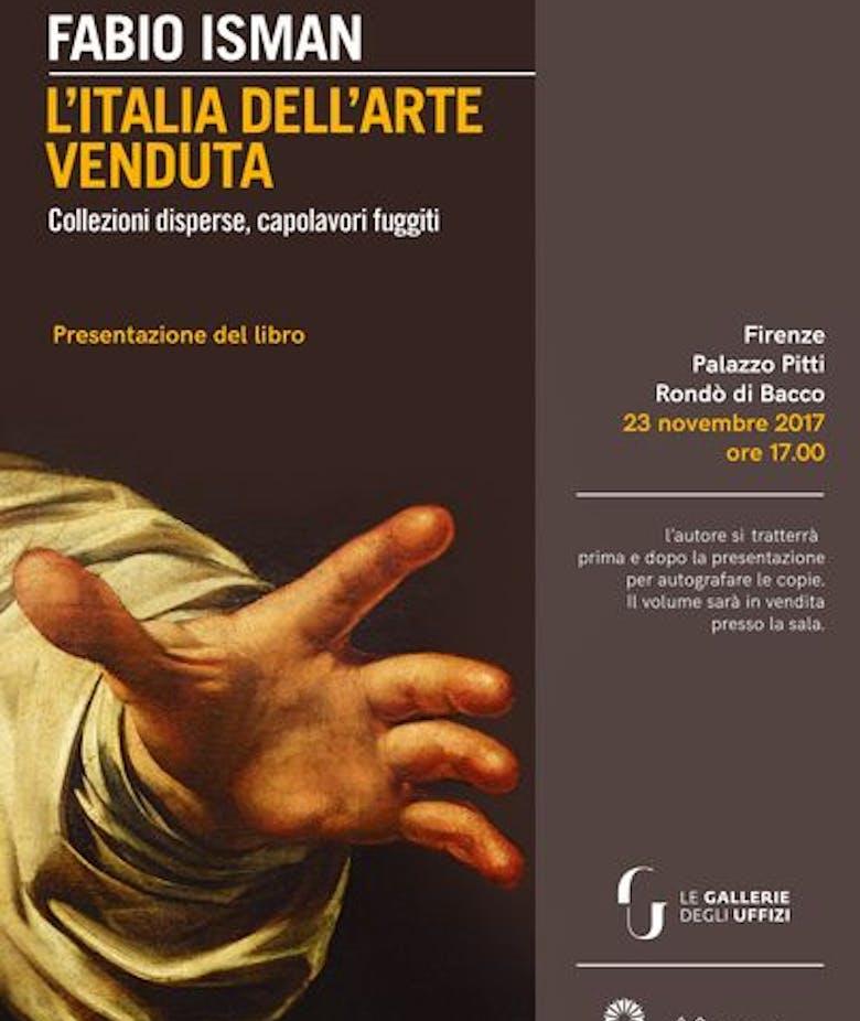 """Presentazione del libro di Fabio Isman """"L'Italia dell'arte venduta"""""""