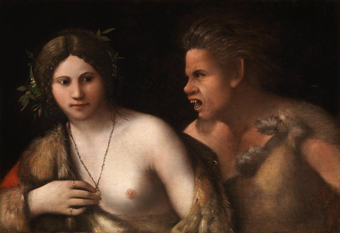 Dosso Dossi, Ninfa con Satiro, Galleria Palatina
