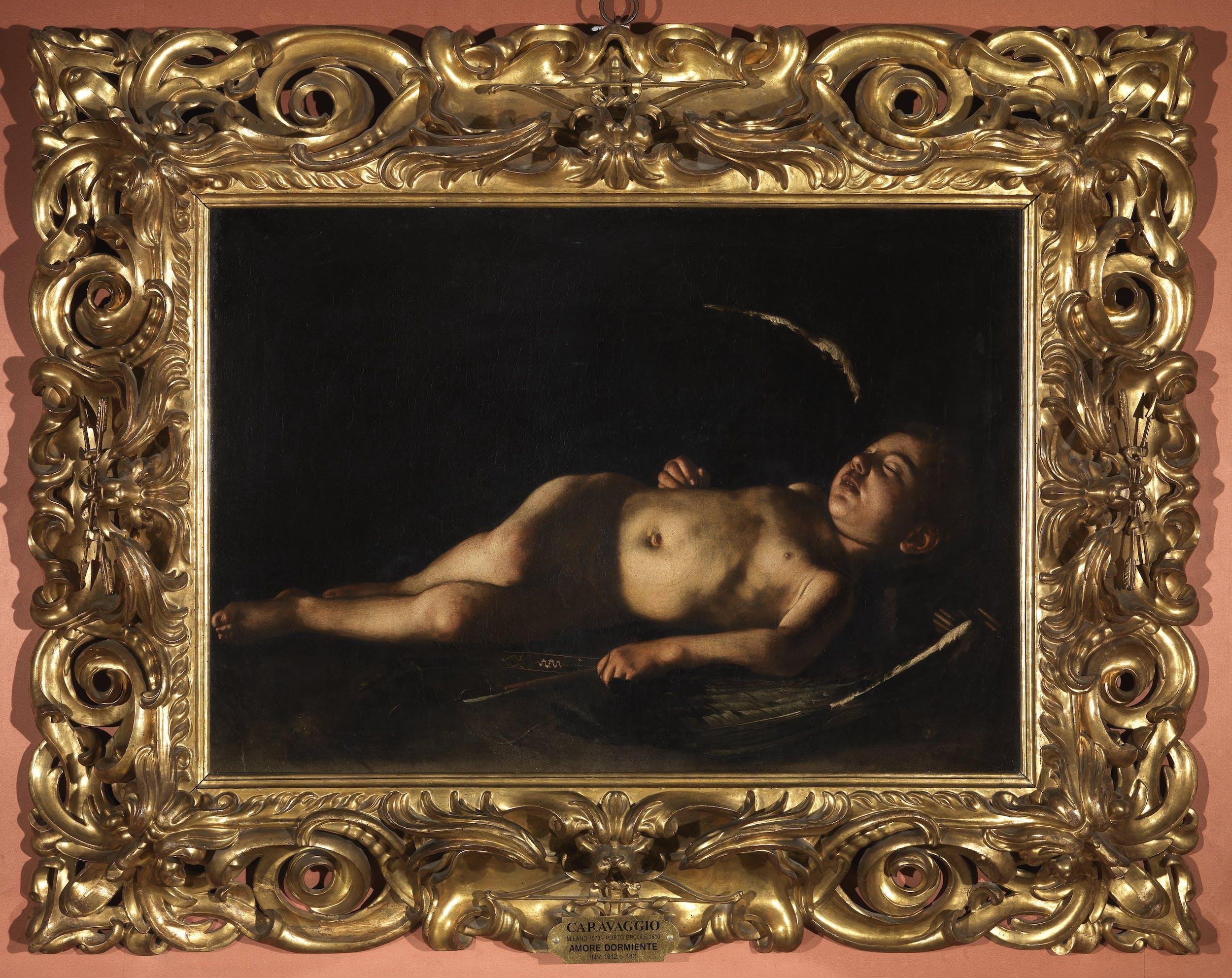 Caravaggio, Amorino dormiente, Galleria Palatina