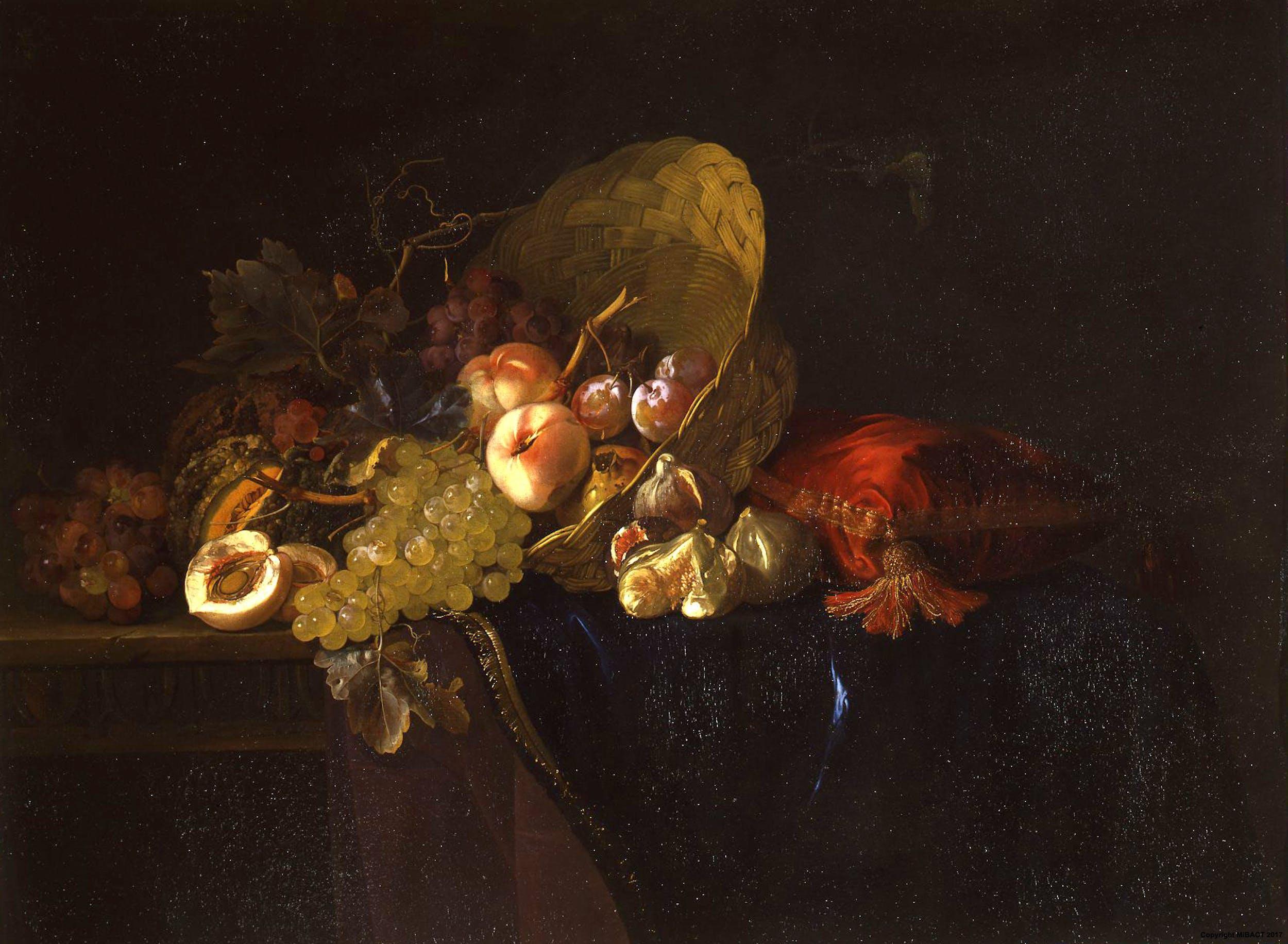 Willem Van Aelst, Natura morta con frutta, Galleria Palatina