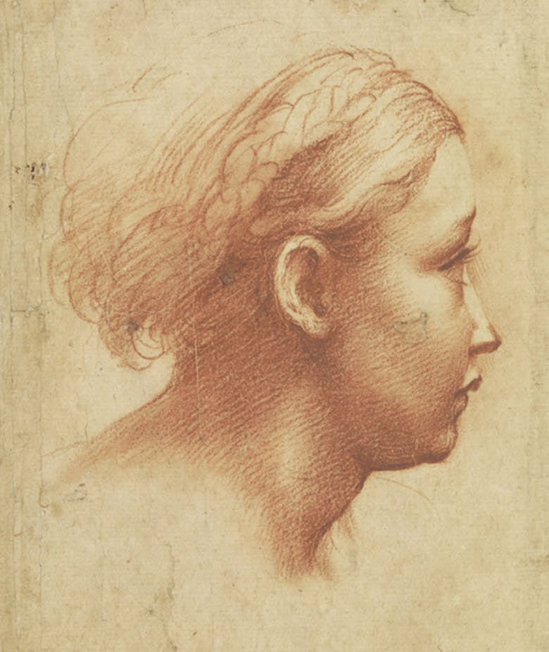 Girl's head in profile