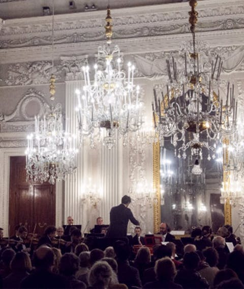 Cycle of Mozart concerts by the Maggio Musicale Fiorentino in the White Room of Pitti Palace