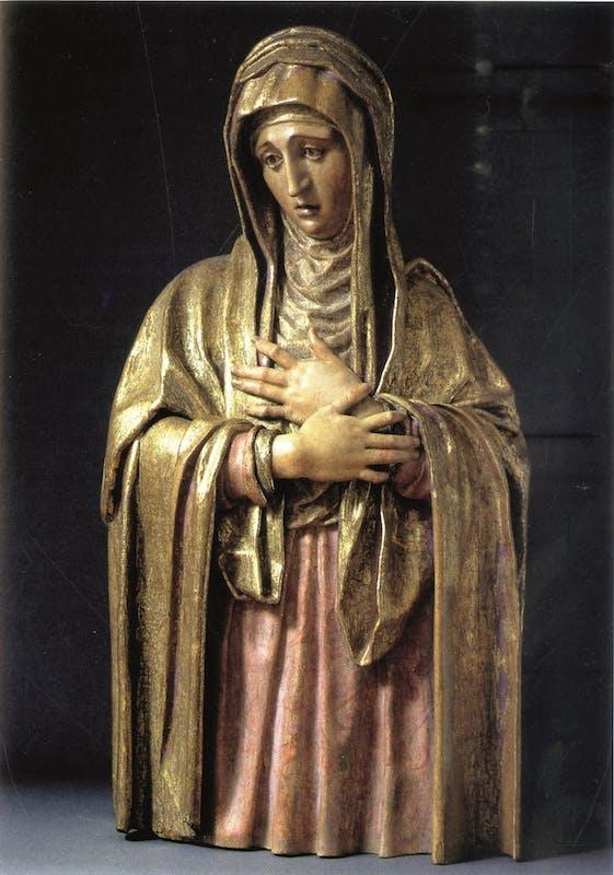 Jacopo di Lazzaro, detto l'Indaco (?) (1476 - 1526) Vergine dolente 1520 ca. Legno policromo Firenze, Museo Nazionale del Bargello