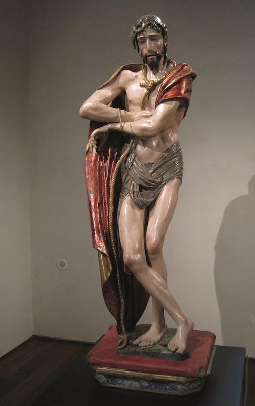 Alonso Berruguete (Paredes de Nava,1488 ca. - Toledo, 1561) Ecce Homo 1525 ca. Legno policromo Valladolid, Museo Nacional de Escultura