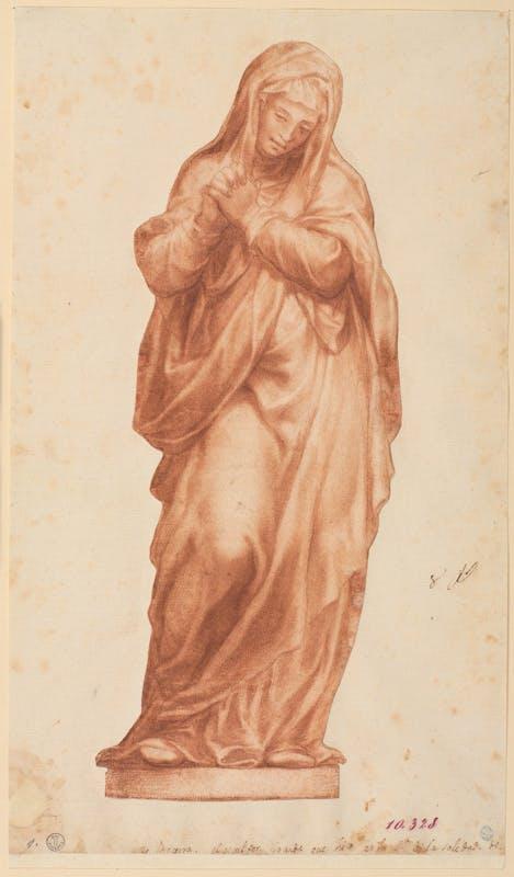 Pompeo Leoni, o cerchia (Venezia [?], 1533 - Madrid, 1608) Addolorata 1585-1599 ca. Pietra rossa, carta Firenze, Gallerie degli Uffizi, Gabinetto dei Disegni e delle Stampe