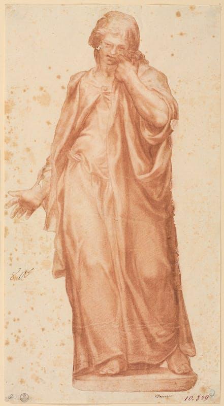 Fig. 17 Pompeo Leoni, o cerchia (Venezia [?], 1533 - Madrid, 1608) San Giovanni dolente 1585-1599 ca. Pietra rossa, carta Firenze, Gallerie degli Uffizi, Gabinetto dei Disegni e delle Stampe
