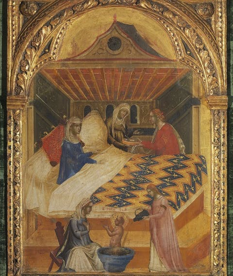The Birth of Saint Nicholas; The Alms of Saint Nicholas