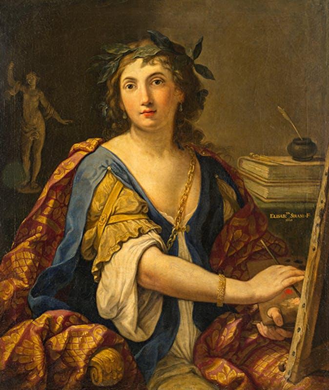 Elisabetta Sirani, Allegoria della pittura (autoritratto?), 1658, Mosca, Museo pushkin