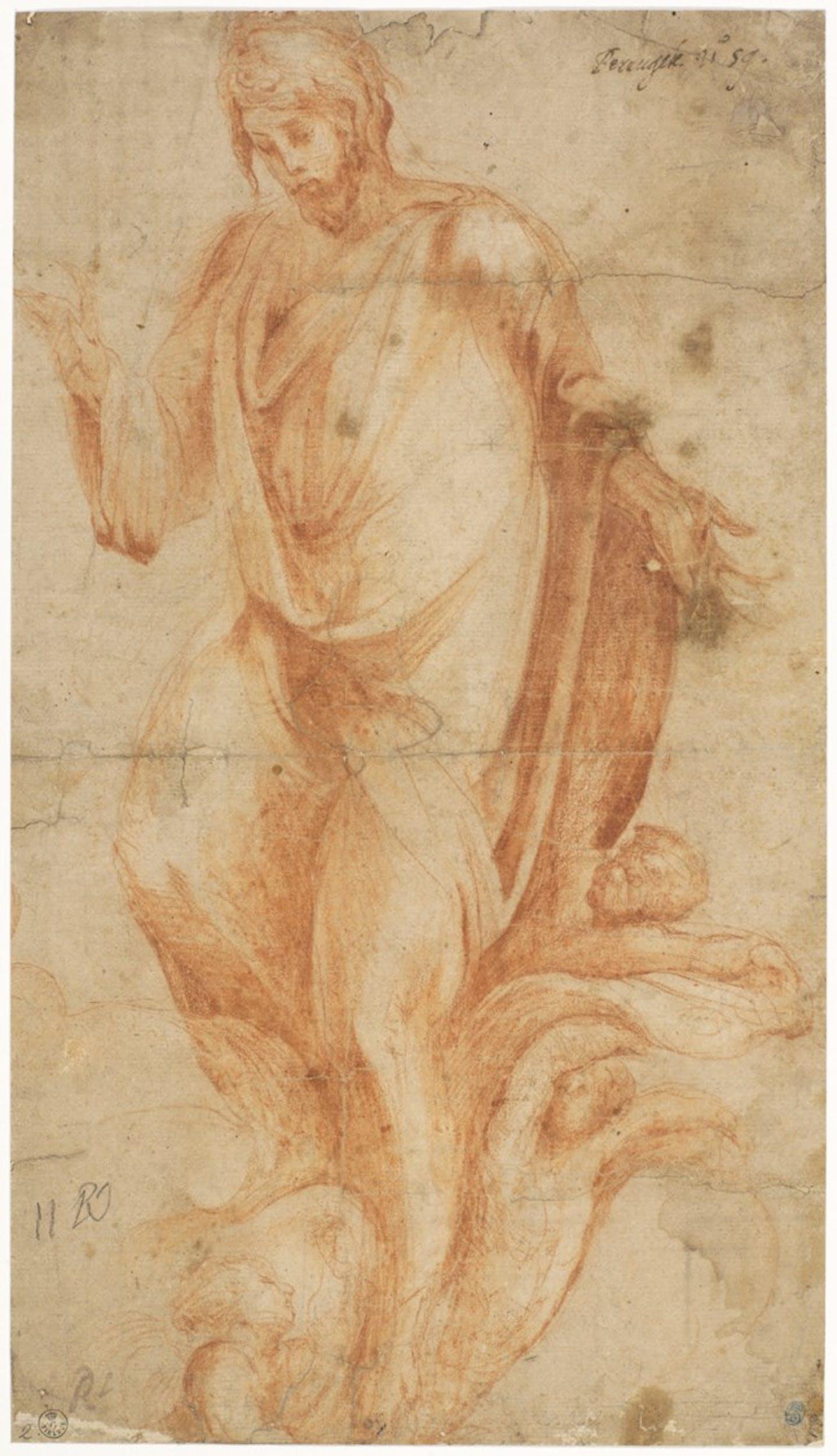 Alonso Berruguete Cristo risorto 1555 ca. 412 x 235 mm Firenze, Gabinetto dei Disegni e delle Stampe delle Gallerie degli Uffizi