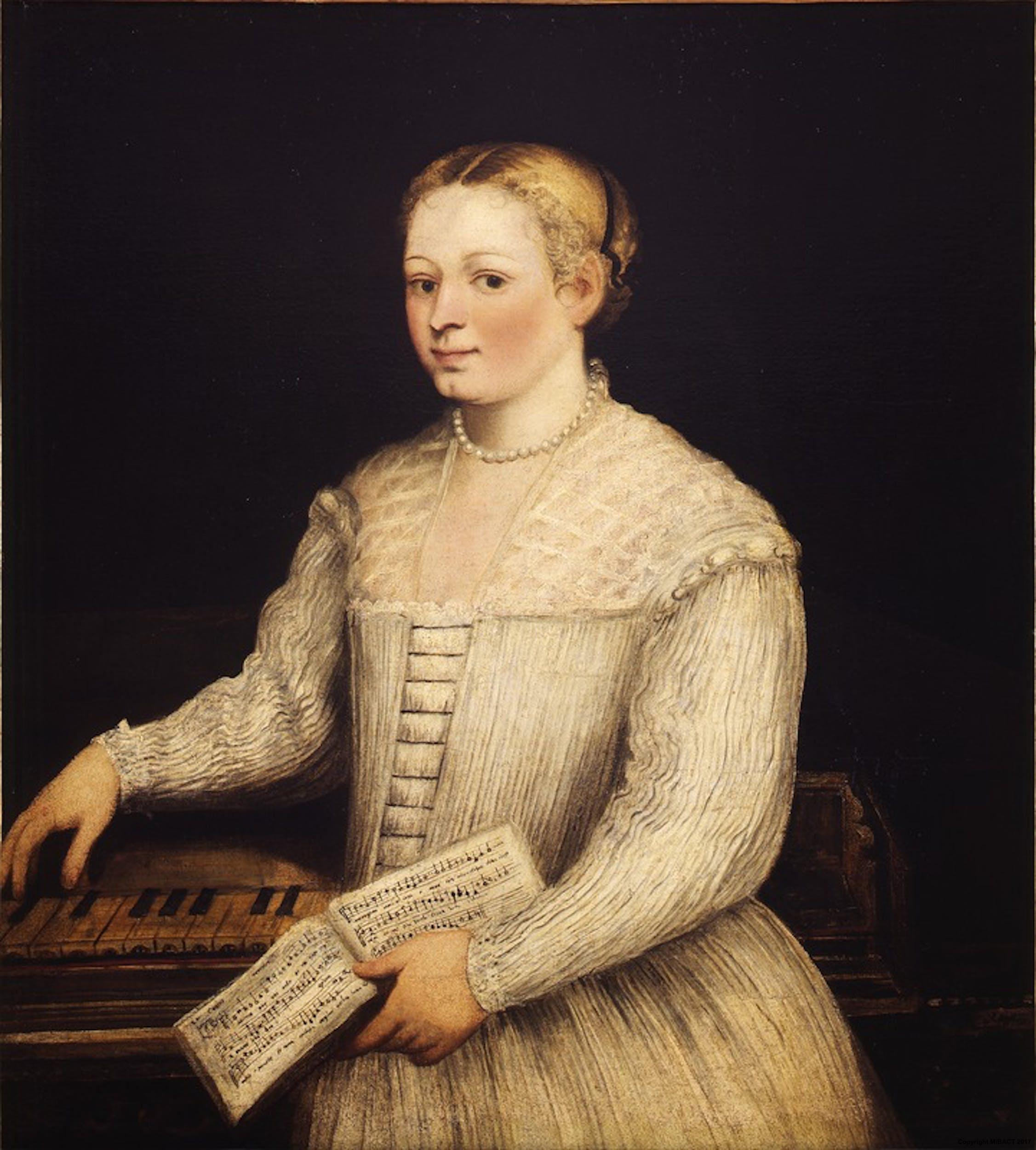 Marietta Tintoretto Autoritratto 1575-80 Firenze, Gallerie degli Uffizi