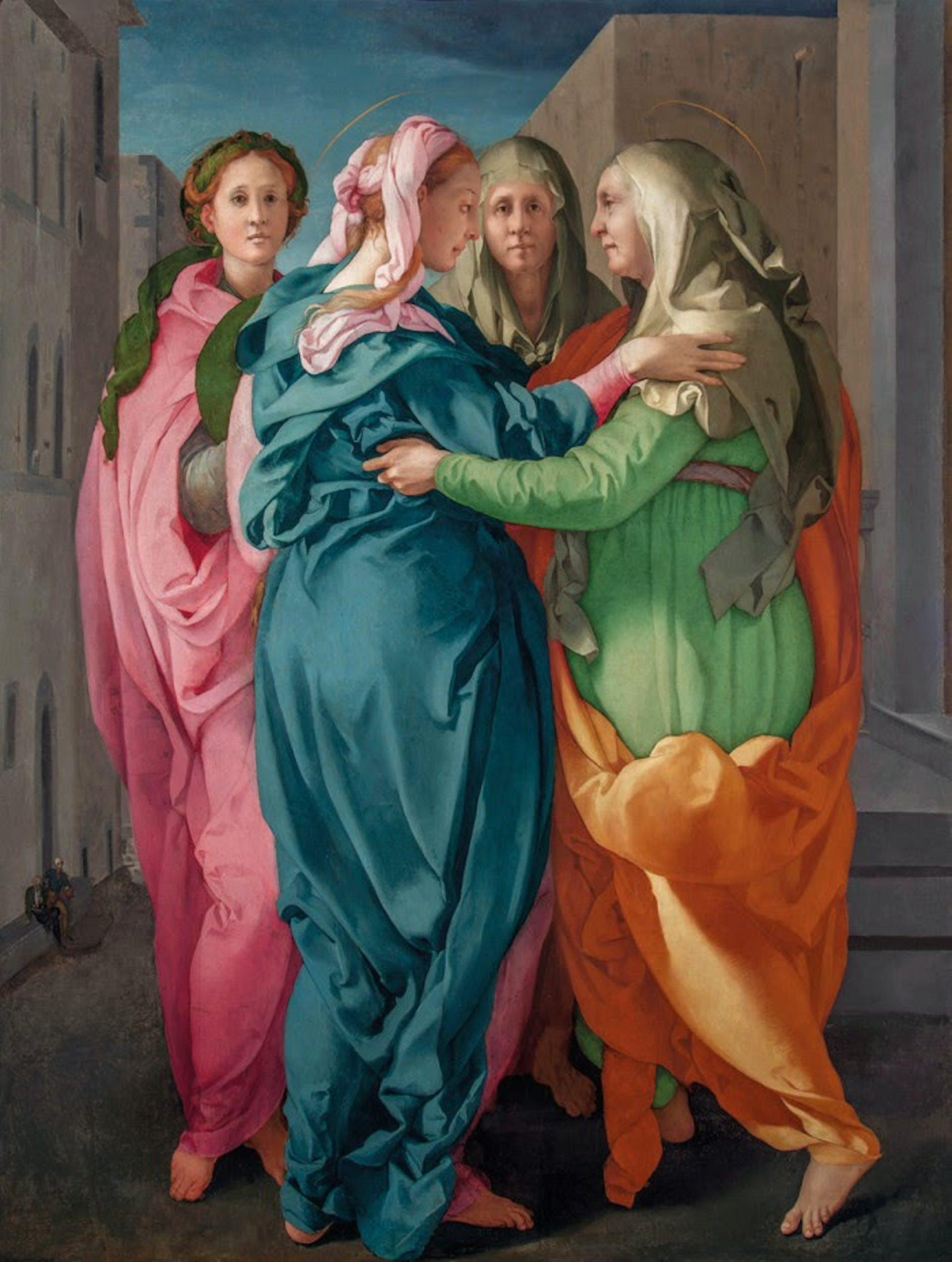 Pontormo Visitazione 1528-1530 Olio su tela Carmignano (PO), Propositura dei Santi Michele e Francesco