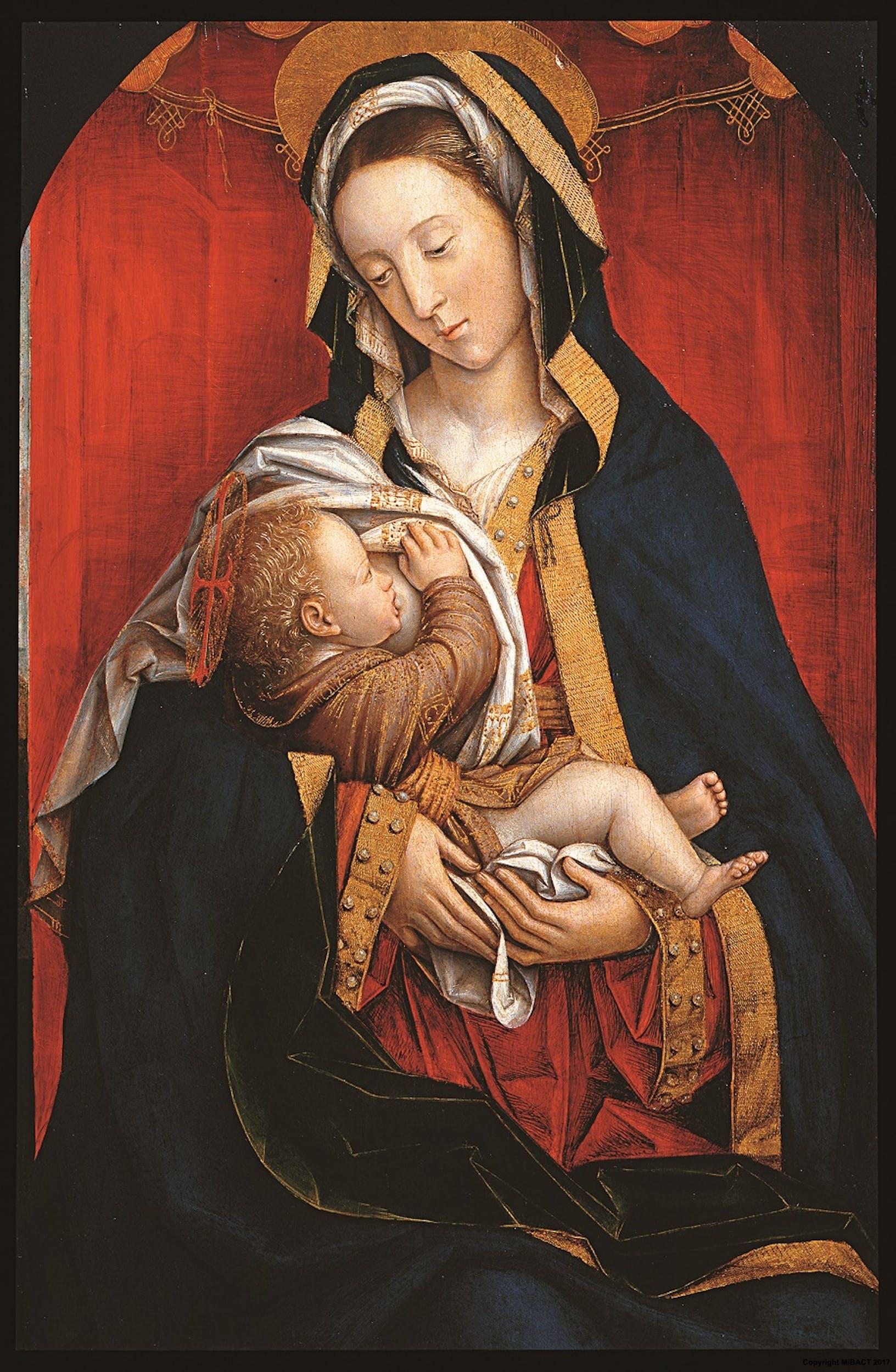 Defendente Ferrari (Chivasso, Torino 1480 circa - 1540 circa) Madonna del Latte 1505-1511 Tecnica mista su tavola Collezione Contini Bonacossi, Gallerie degli Uffizi, Firenze