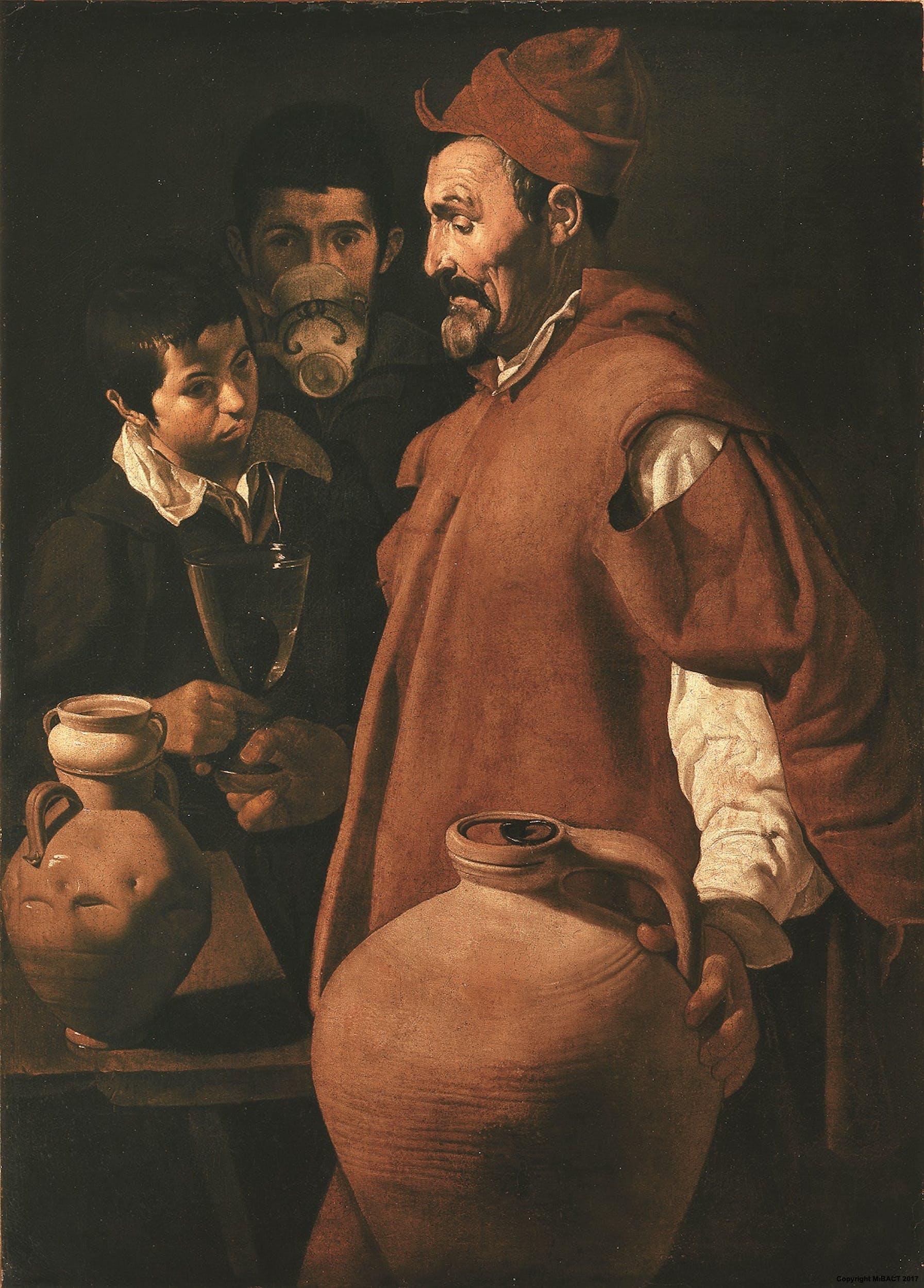 Diego Rodriguez de Silva y Velázquez (Siviglia 1599 - Madrid 1660) El aguador de Sevilla 1618-1622 Olio su tela  Collezione Contini Bonacossi, Gallerie degli Uffizi, Firenze
