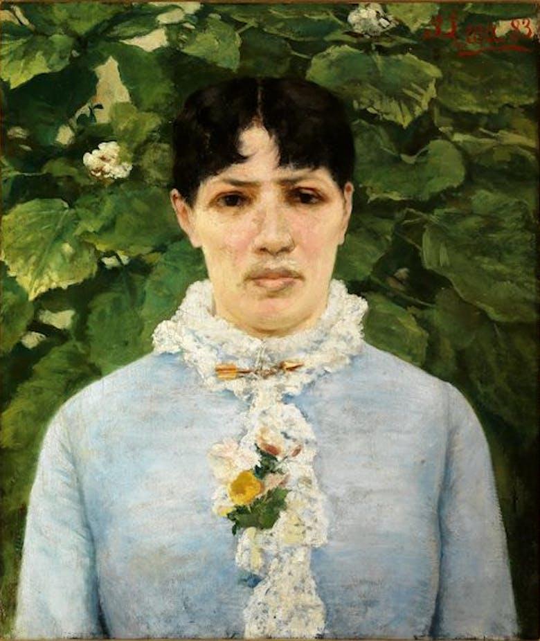 """Le Gallerie degli Uffizi ricevono in dono il """"Ritratto di signora in giardino"""", una delle opere più importanti e significative del percorso artistico di Silvestro Lega"""