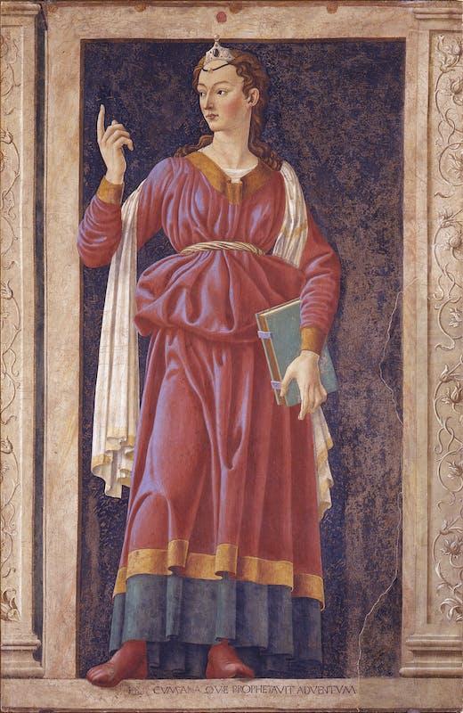San Pier Scheraggio, Andrea del Castagno, Sibilla Cumana