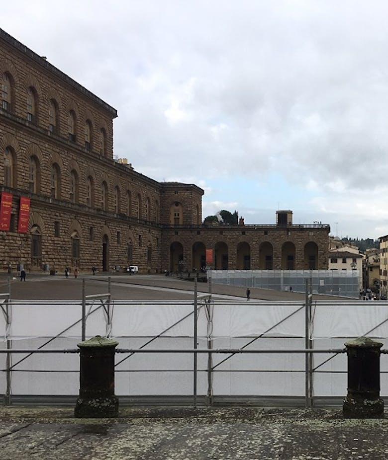 Terminati i lavori di pulitura e restauro dei bastioni di Palazzo Pitti