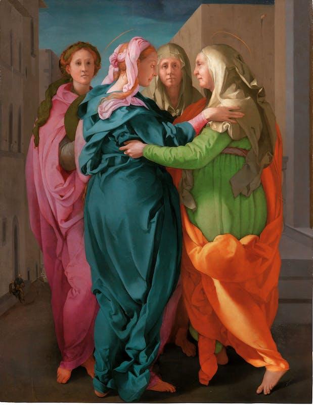 Jacopo da Pontormo (Pontorme, Empoli 1494 – Firenze 1557) Visitazione 1528-1529 circa Olio su tavola Carmignano, pieve dei Santi Michele e Francesco