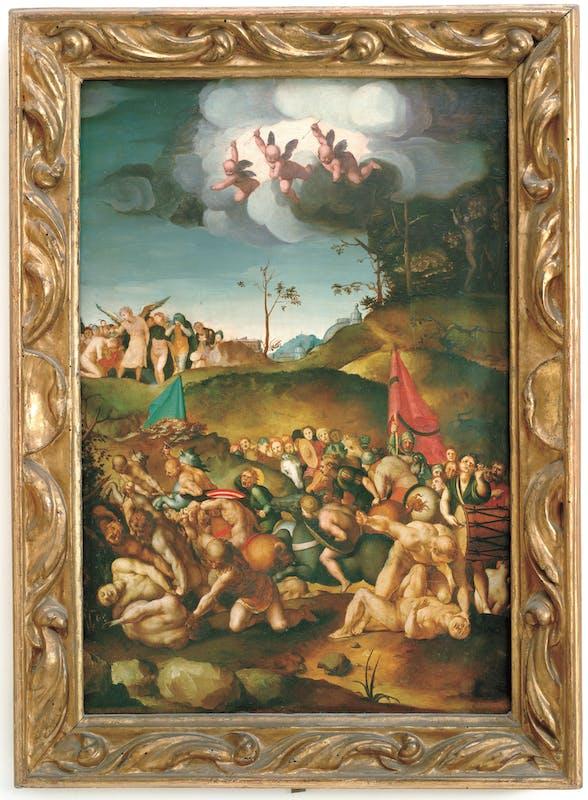 Agnolo Bronzino (Firenze 1503 – 1572) Martirio di sant'Acacio e dei diecimila martiri 1529-1530 Olio su tavola Firenze, Gallerie degli Uffizi, Galleria delle statue e delle pitture