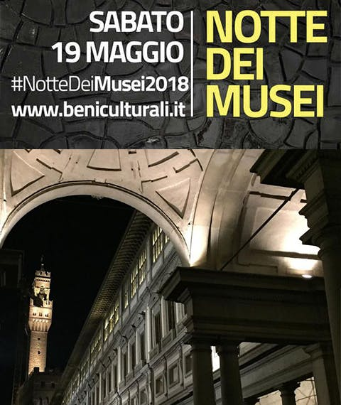 Notte dei Musei 2018: apertura serale degli Uffizi a 1€ !