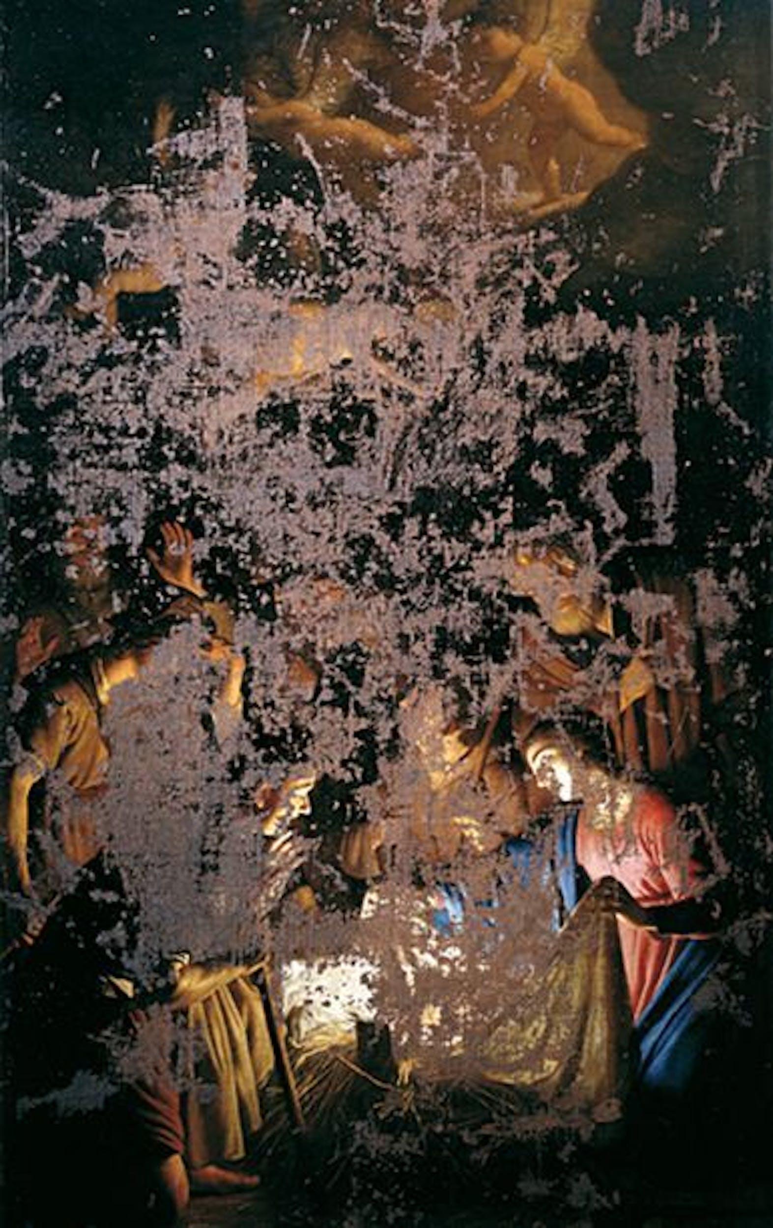 """Gherardo delle Notti, """"Adorazione dei pastori"""", 1620ca, dopo il restauro"""
