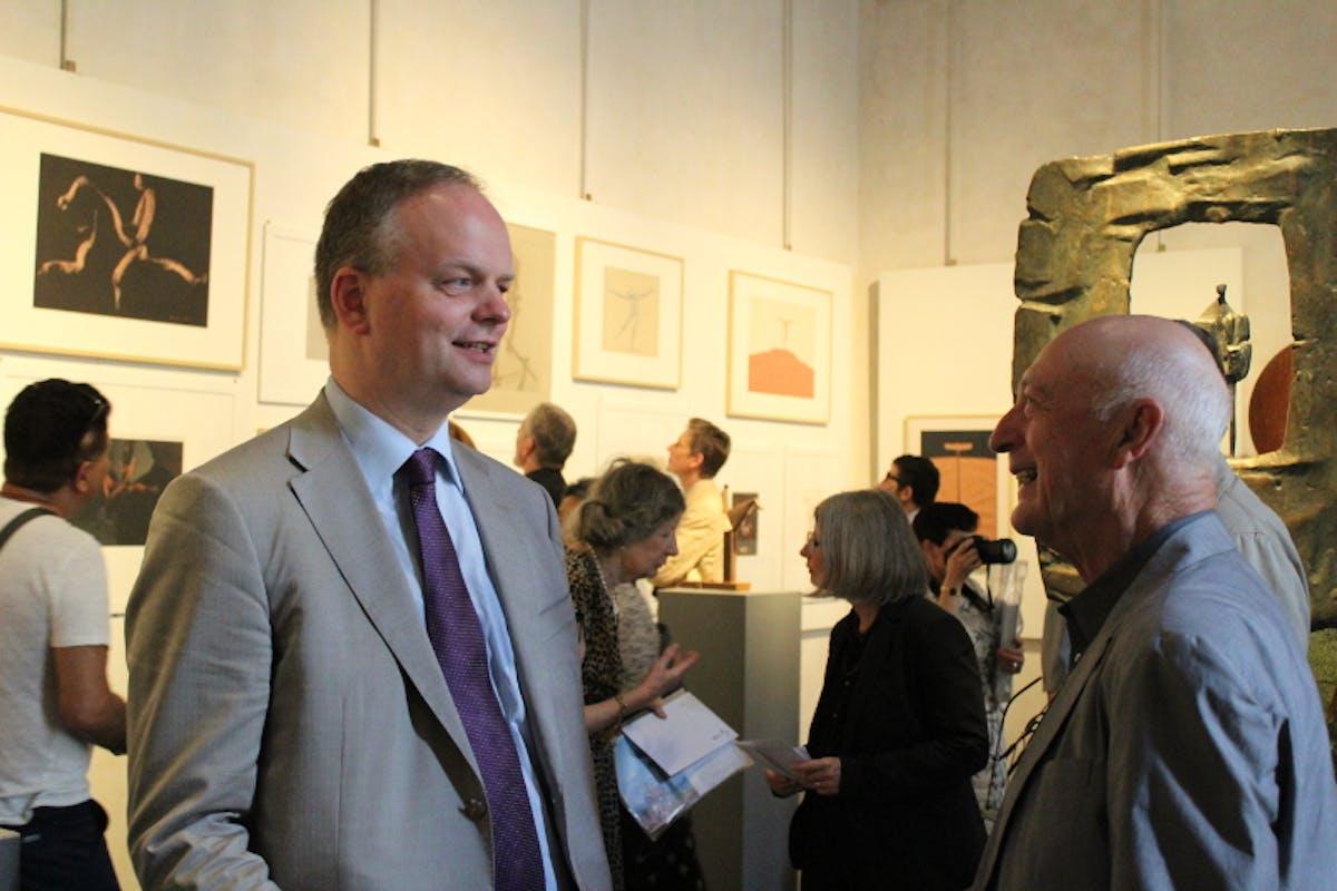Il Direttore Eike Schmidt e il regista Percy Aldon alla mostra