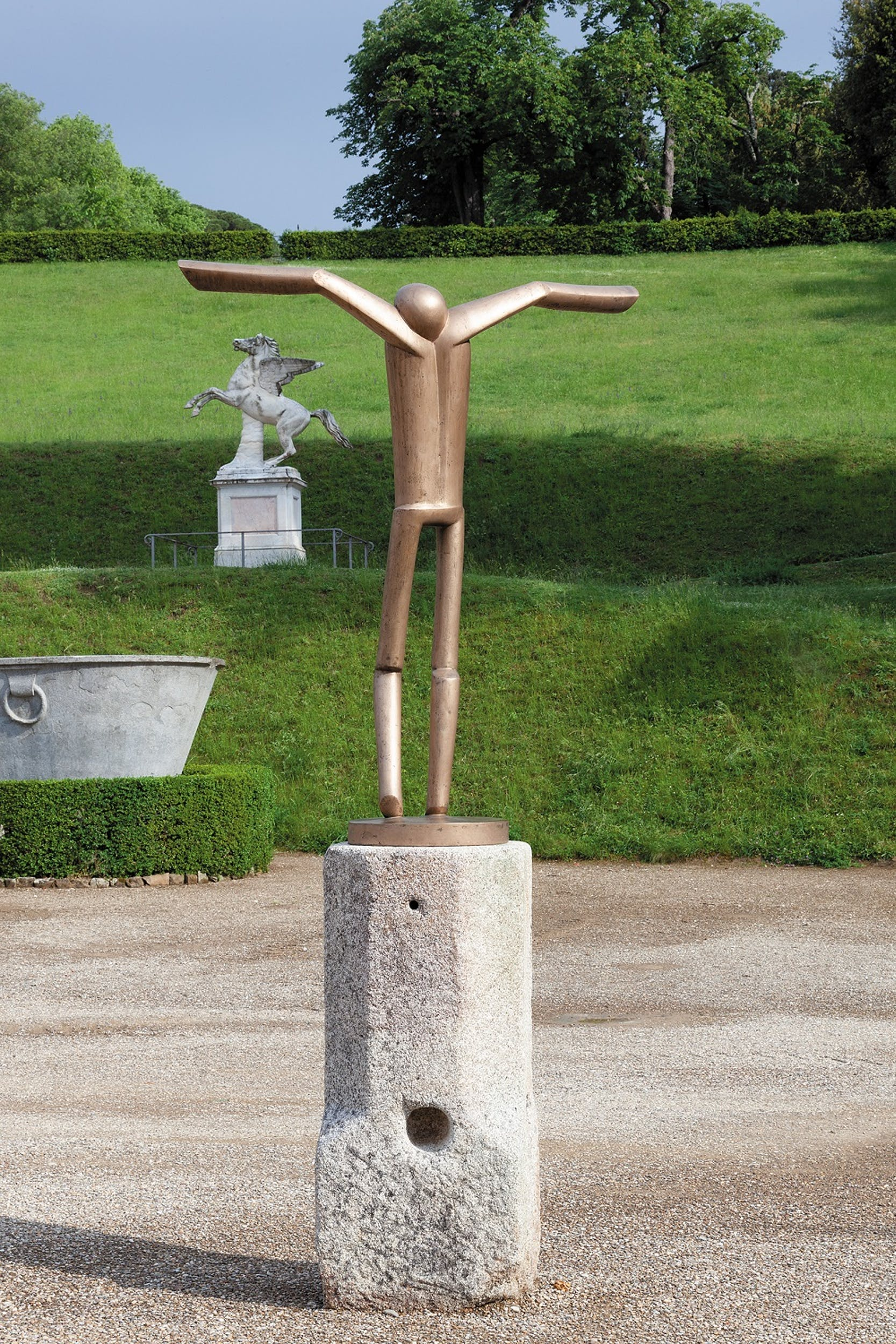 Fritz Koenig  Vogelmensch Uomo-uccello, 2005/2008 bronzo Collezione privata