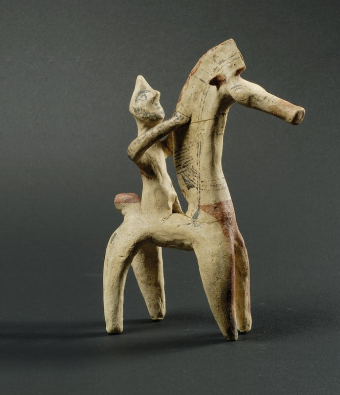 Cavaliere, 750-600 a.C. (Arcaico-Cipriota I) Terracotta policroma Firenze, Museo Archeologico Nazionale