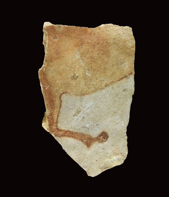 Frammento di lastra calcarea con figura frammentaria di cavalli