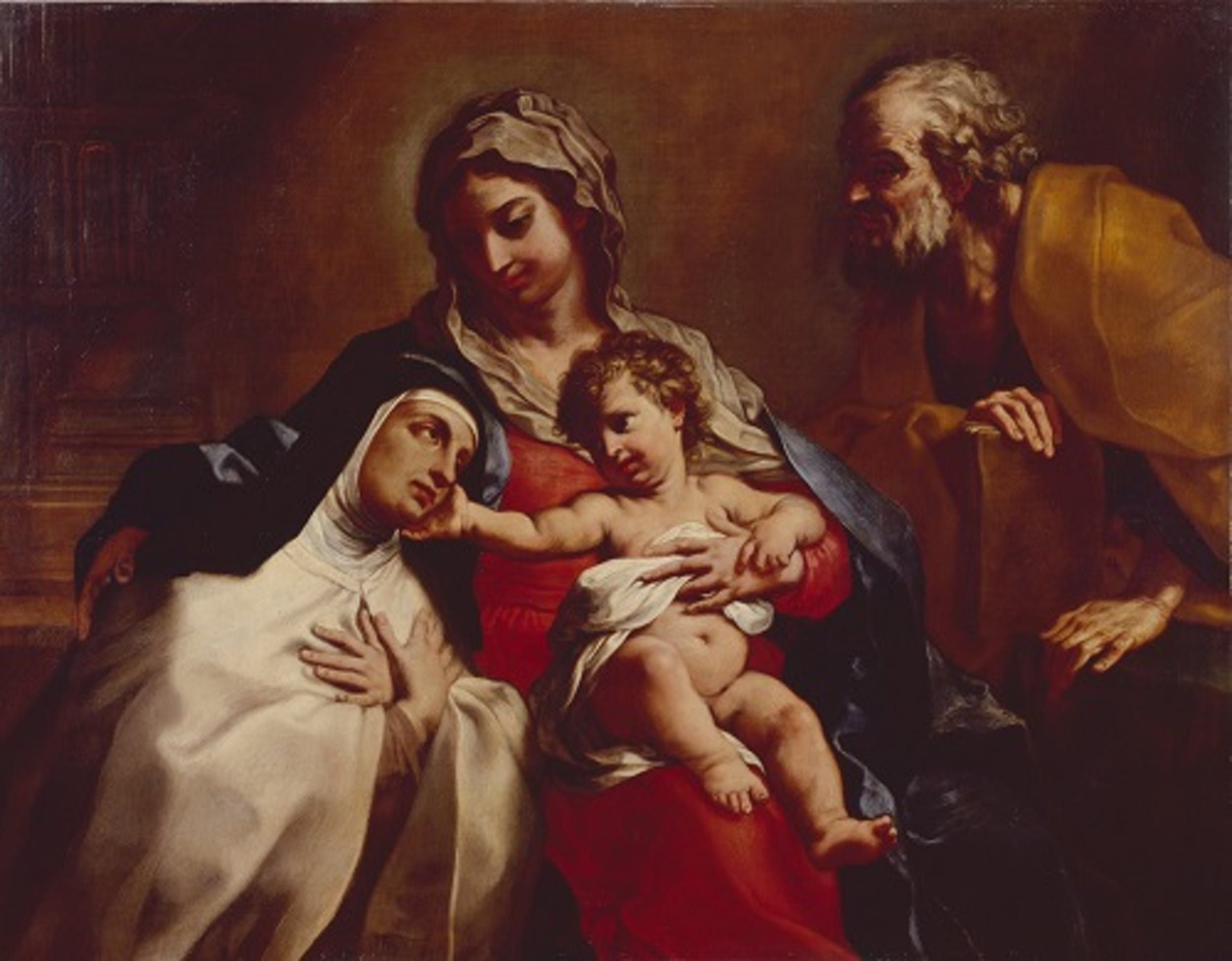 Fig. 1 Elisabetta Sirani, Sacra Famiglia con Santa Teresa, Modena, collezione privata - Holy Family with St Theresa, Modena, private collection L. Zanasi.