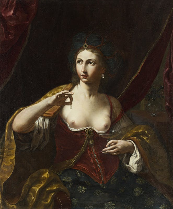 Fig. 5 Elisabetta Sirani, Cleopatra, Modena, collezione privata L. Zanasi - Elisabetta Sirani, Cleopatra, Modena, Private Collection L. Zanasi.